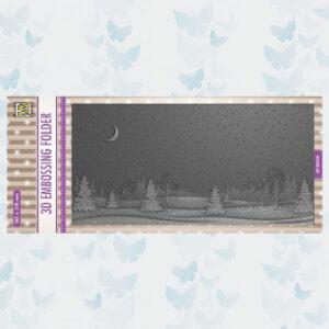 Nellies Choice 3D Embossing Folder - Slimline Winter Landschap EF3D036
