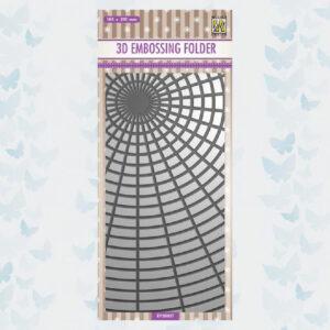 Nellies Choice 3D Embossing Folder - Slimline Zonneschijn EF3D037