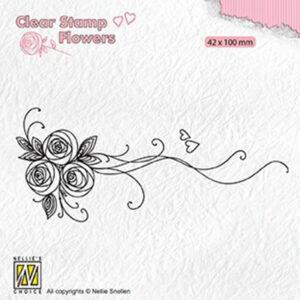 Nellies Choice Clear Stamps Flowers - Boeket Rozen 1 FLO020