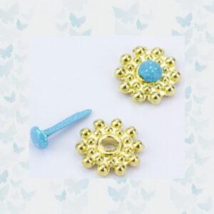 Nellie's Choice Glitter Brads Lichtblauw FLP-GB-004