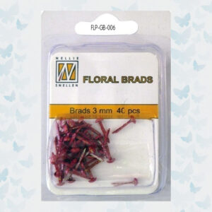 Nellie's Choice Glitter Brads Rood FLP-GB-006