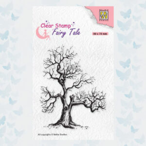 Nellie's Choice Clearstamp silhouette Fairy Tale Tree FTCS018