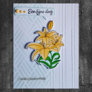 Nellies Choice Flowers set Snijmal + Clear Stempel Lily HDCS005