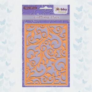 Nellie's Choice Hobby Solution Snijmal Achtergrond Swirls HSFD018