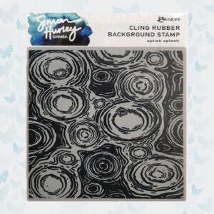 Ranger SH Cling Rubber Background Stamp Splish Splash HUR77923 Simon Hurley