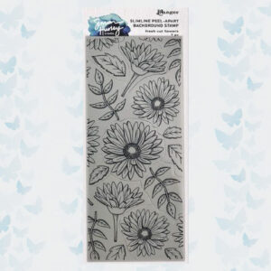 Ranger SH Slimline Stamps Fresh Cut Flowers HUR78159 Simon Hurley
