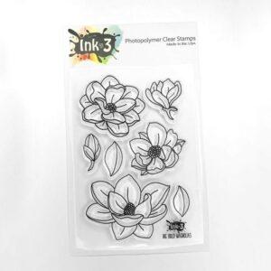 InkOn3 Clear Stempel Set Big Bold Magnolias