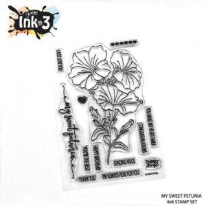 InkOn3 Clear Stempel Set My Sweet Petunia