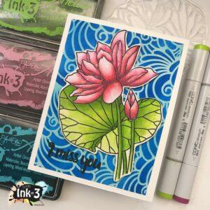 InkOn3 Clear Stempel Set Lotus