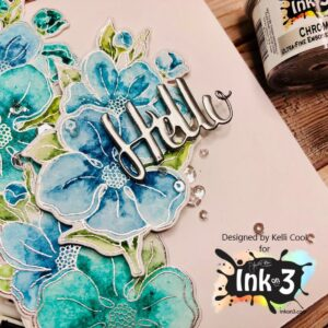 InkOn3 Clear Stempel Set Dogwood Flower