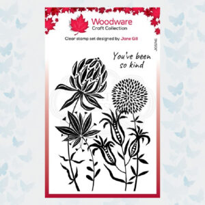 Woodware Clear Stamp Autumn Flowers JGS741