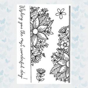 Julie Hickey Clear Stempels Fresh Florals Border JH1029