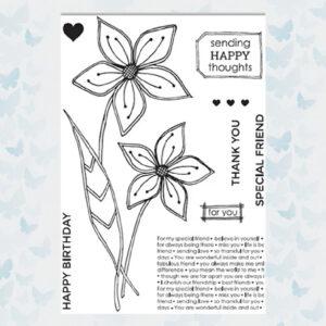 Julie Hickey Clear Stempels Friendship Flower JH1039
