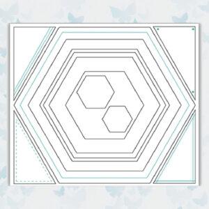 Julie Hickey Snijmallen Hexagon JHD-CUT-1005