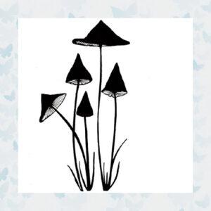 Lavinia Clear Stamp Slender Mushrooms LAV150