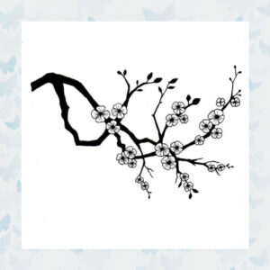 Lavinia Clear Stamp Cherry Blossom LAV176
