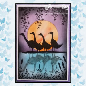 Lavinia Clear Stamp Gaggle of Geese LAV279