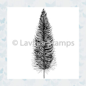 Lavinia Clear Stamp Feather LAV494