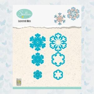 Nellies Choice Layered Die - Sneeuwvlokken 03 LDSF003