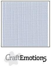 CraftEmotions linnenkarton 10 vel klassiek wit LHC-102 /A4/ 250gr