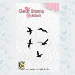 Nellie's Choice Mini clear stamps vogels MAFS002