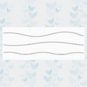 My Favorite Things Stitched Slimline Snow Drifts Die-namics MFT-1806