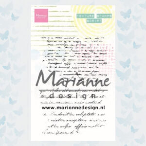 Marianne Design Clear Stamps Texture Stamps - Tekst MM1627