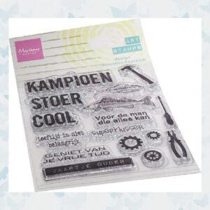 Marianne Design Clear Stempels - Kampioen MM1647