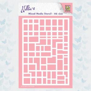 Nellie's Choice Mixed Media Stencils A6 rechthoeken MMSA6-008