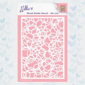 Nellie's Choice Mixed Media Stencils A6 Knot Cirkels MMSA6-009
