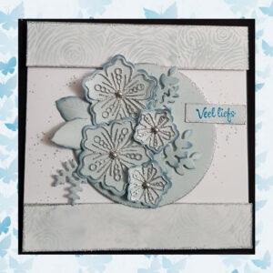 Nellie's Choice Mixed Media Stencils Bloemen MMSA6-012