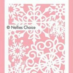 Nellie's Choice Mixed Media Stencil A6 Grote sneeuwvlokken MMSA6-013