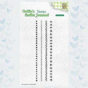 Nellies Choice Clear Stempel - Journal - Randen set3 NBJCS003