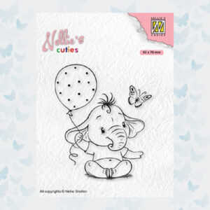 Nellies Choice Clearstempel - Cuties Baby Olifant NCCS007