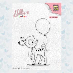 Nellies Choice Clearstempel - Cuties Jong Hert NCCS008