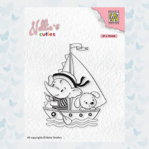 Nellies Choice Clearstempel - Cuties Jonge Zeilers NCCS010