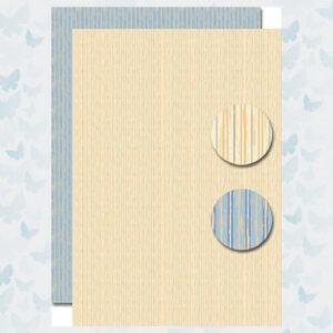 Nellies Choice Achtergrond Papier 2-zijdig Lijnen Beige-Blauw NEVA095