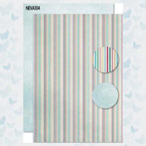 Nellies Choice Achtergrond Papier 2-zijdig Strepen NEVA104
