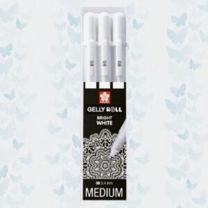 Sakura • Gelly rolls real white 08 set van 3 POXPGBWH3