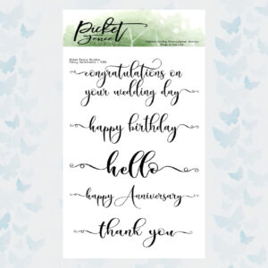 Picket Fence Studios - Fancy Sentiments Clear Stamps (S-169)
