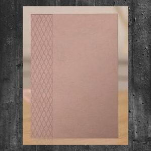 Crafter's Companion Rose Gold Embossing Folder Diamond Lattice (S-RG-EF-DILA)