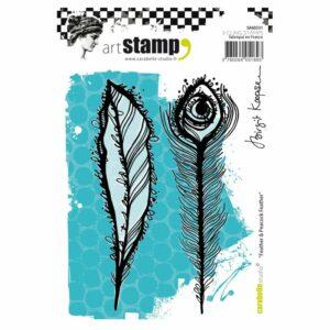 Carabelle Studio Rubberen Stempels A6 Feather & Peacock Feather SA60331