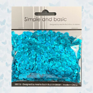 Simple and Basic Turquoise Sequin Mix SBS116