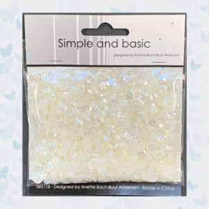 Simple and Basic Transparent Ivory Sequin Mix (SBS118)