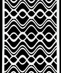 Picket Fence Studios Slim Line Waves Stencil (SC-207)