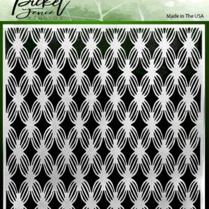 Picket Fence Studios Basket Petals 6x6 Inch Stencils (SC-216)