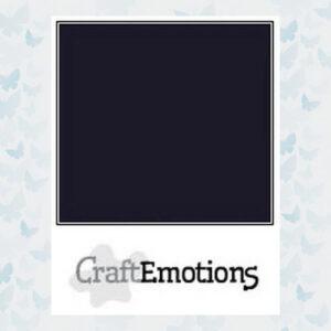CraftEmotions Zwart Karton Glad SC-58 / A4/ 10 Vellen