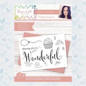 Crafter's Companion Sharon Callis From the Heart Clear Stamps Wonderful (SCC-STP-WONDER)