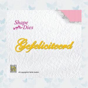 Nellies Choice Shape Dies SD050 Gefeliciteerd