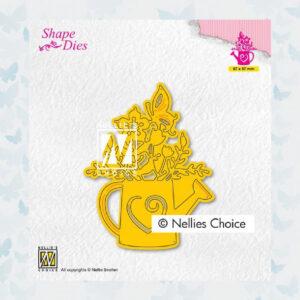 Nellies Choice Shape Die - Waterkan met bloemen SD197